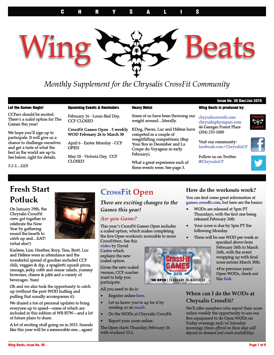WingBeats Issue #30 - DecJan 2015