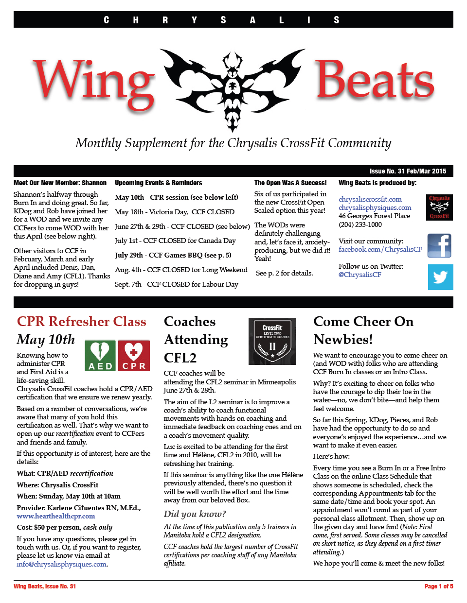WingBeats Issue #31 - FebMar 2015