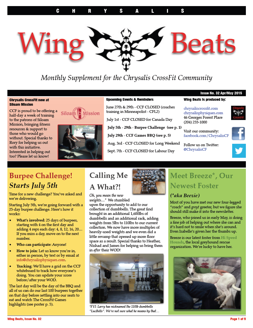 WingBeats Issue #32 - AprMay 2015