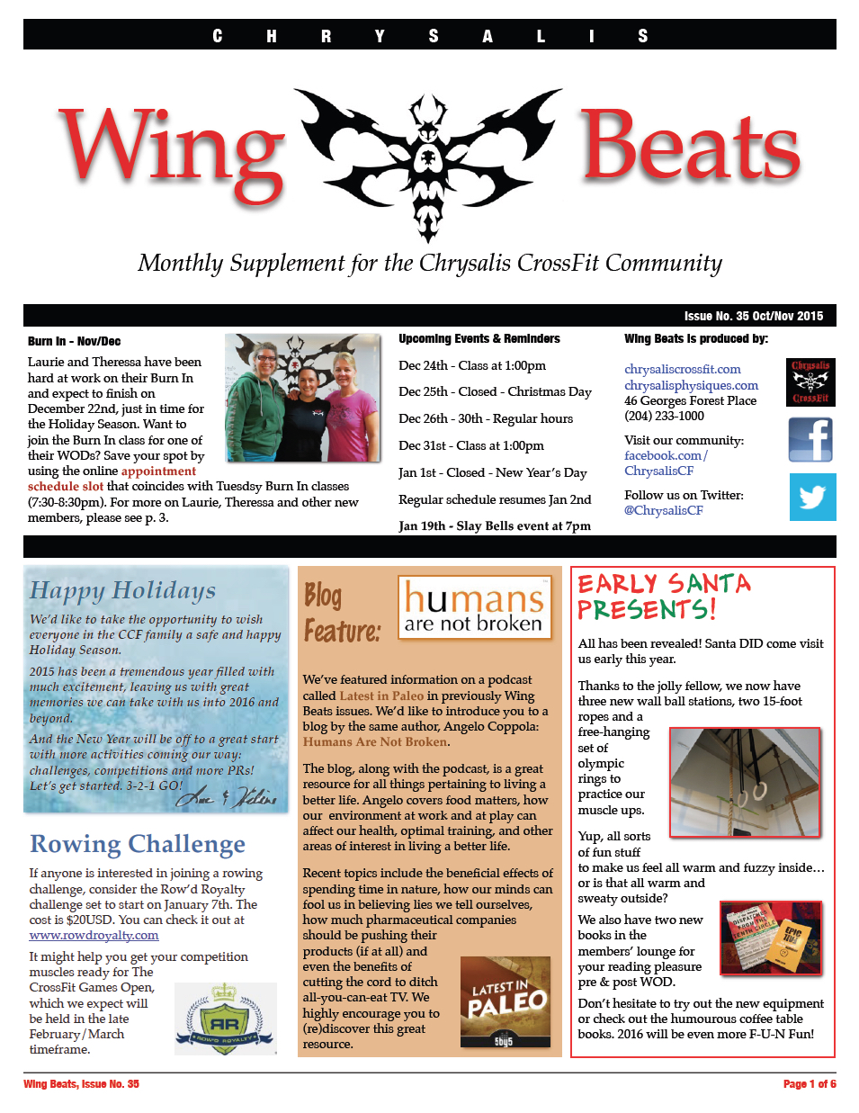 WingBeats Issue #35 - OctNov 2015