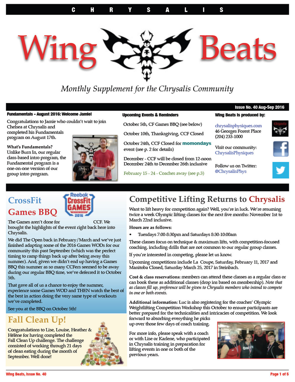 WingBeats Issue #40 - AugSep 2016