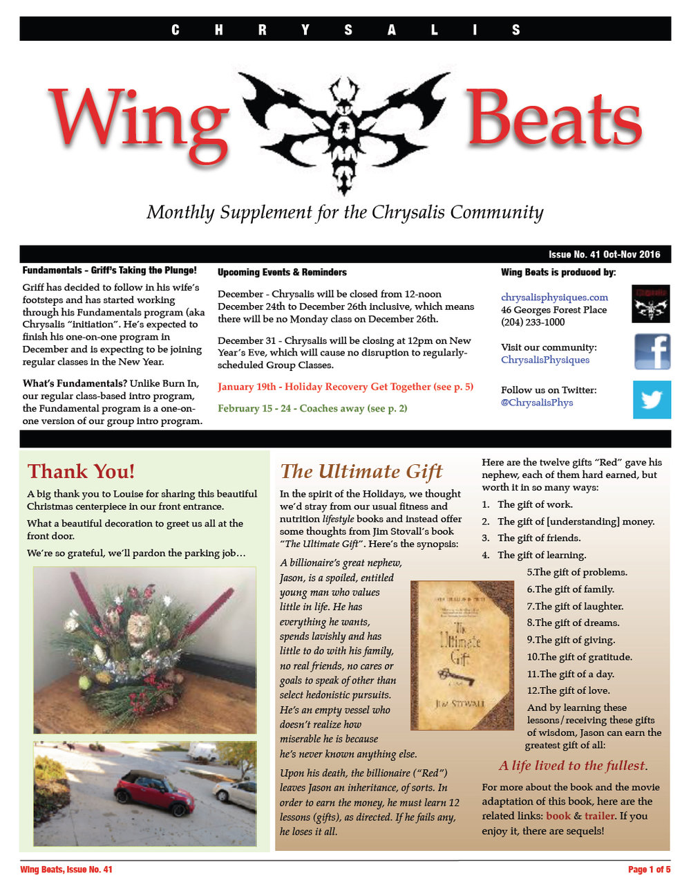 WingBeats Issue #41 - OctNov 2016