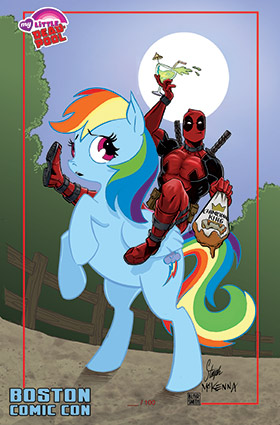 Mark's Exclusive Deadpool/My Little Pony Print