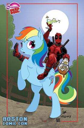 Mark's Exclusive Deadpool/My Little Pony Print
