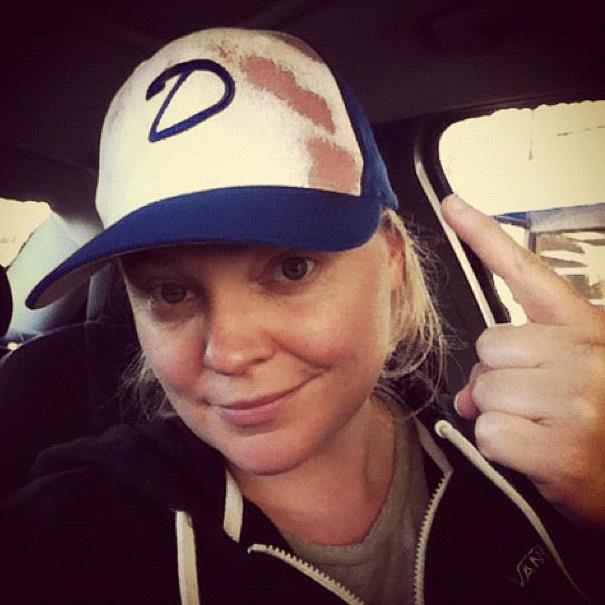 Melissa Hutchison, sporting her Clementine hat
