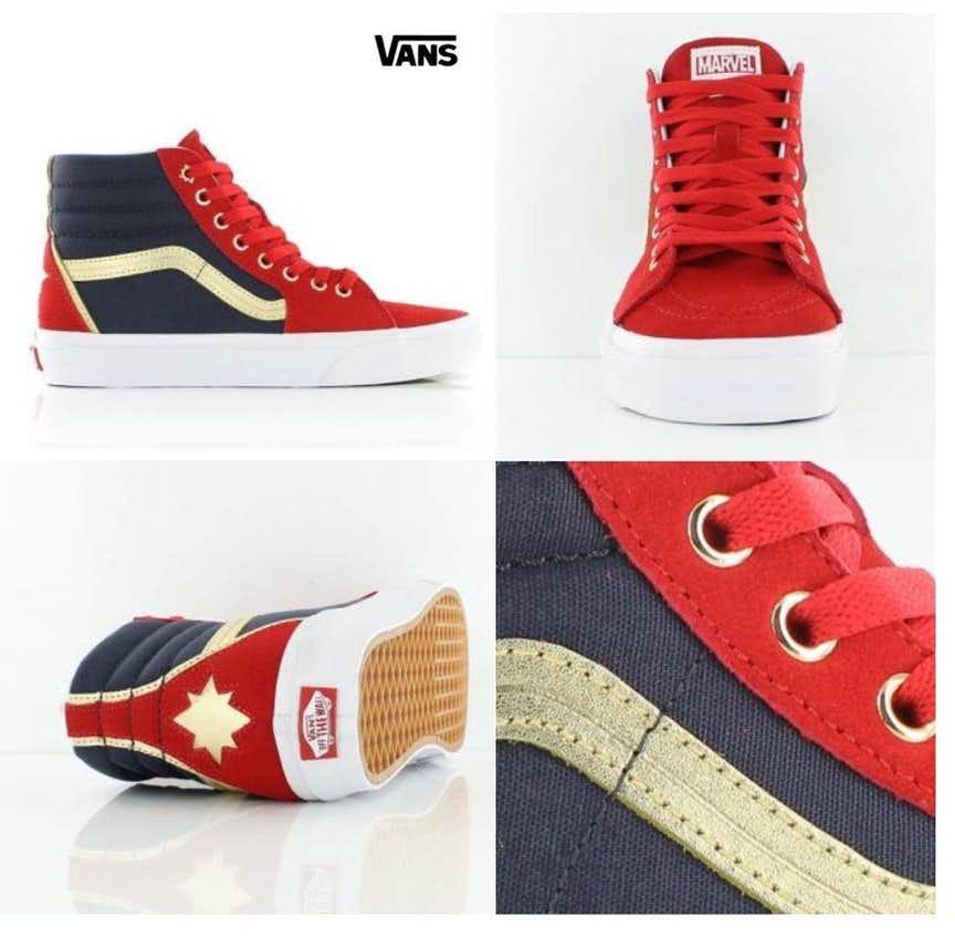 42783feb742f9 Vans to Sell Marvel-based sneakers, Including Captain Marvel, Black ...