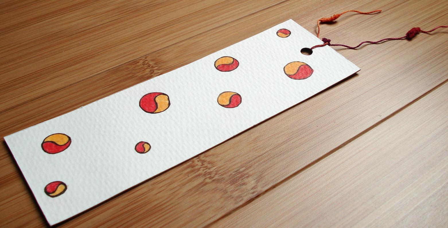 Handmade Illustrated Bookmark