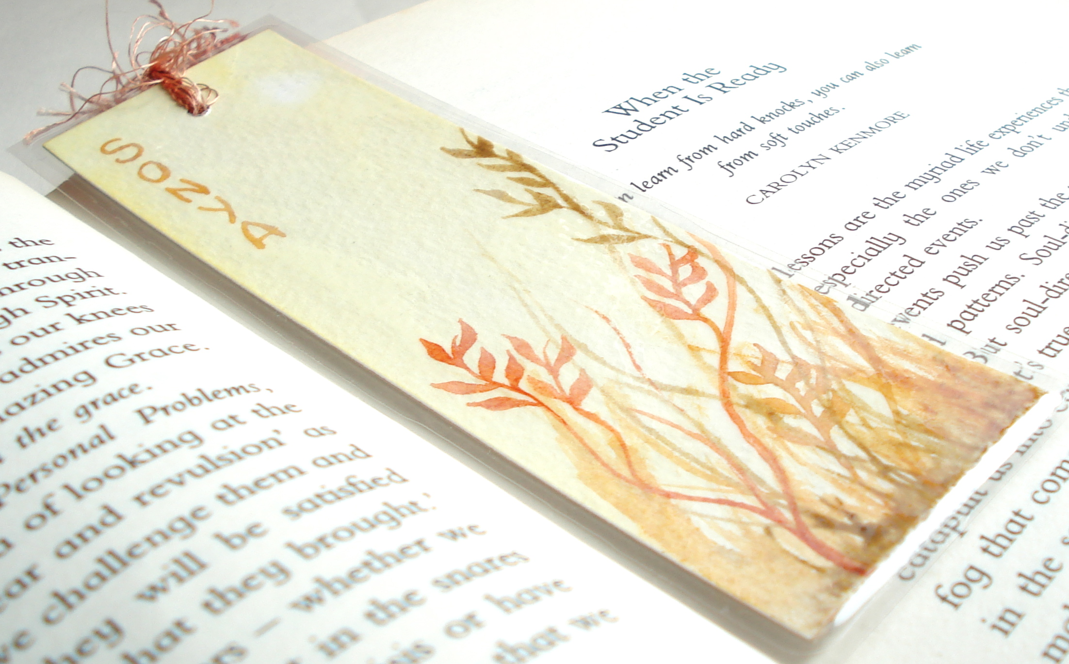 Personalized Original Watercolour Bookmark Handmade by Creativesque