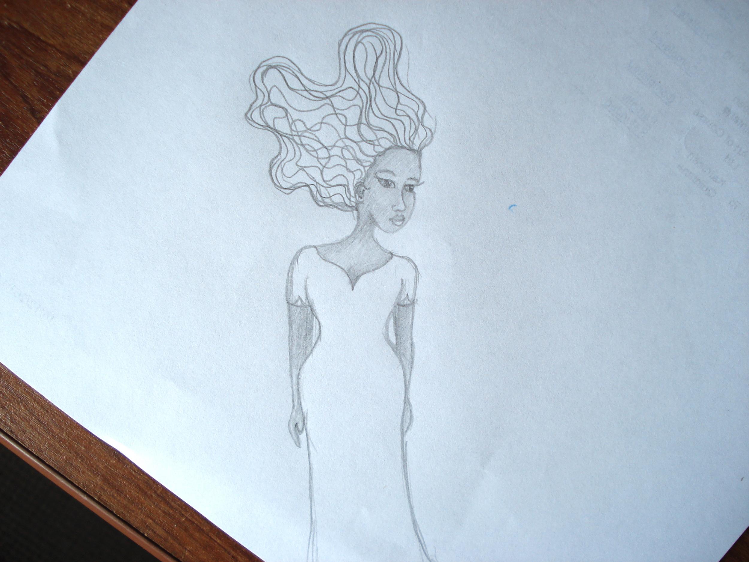 African American Woman Pencil Sketch