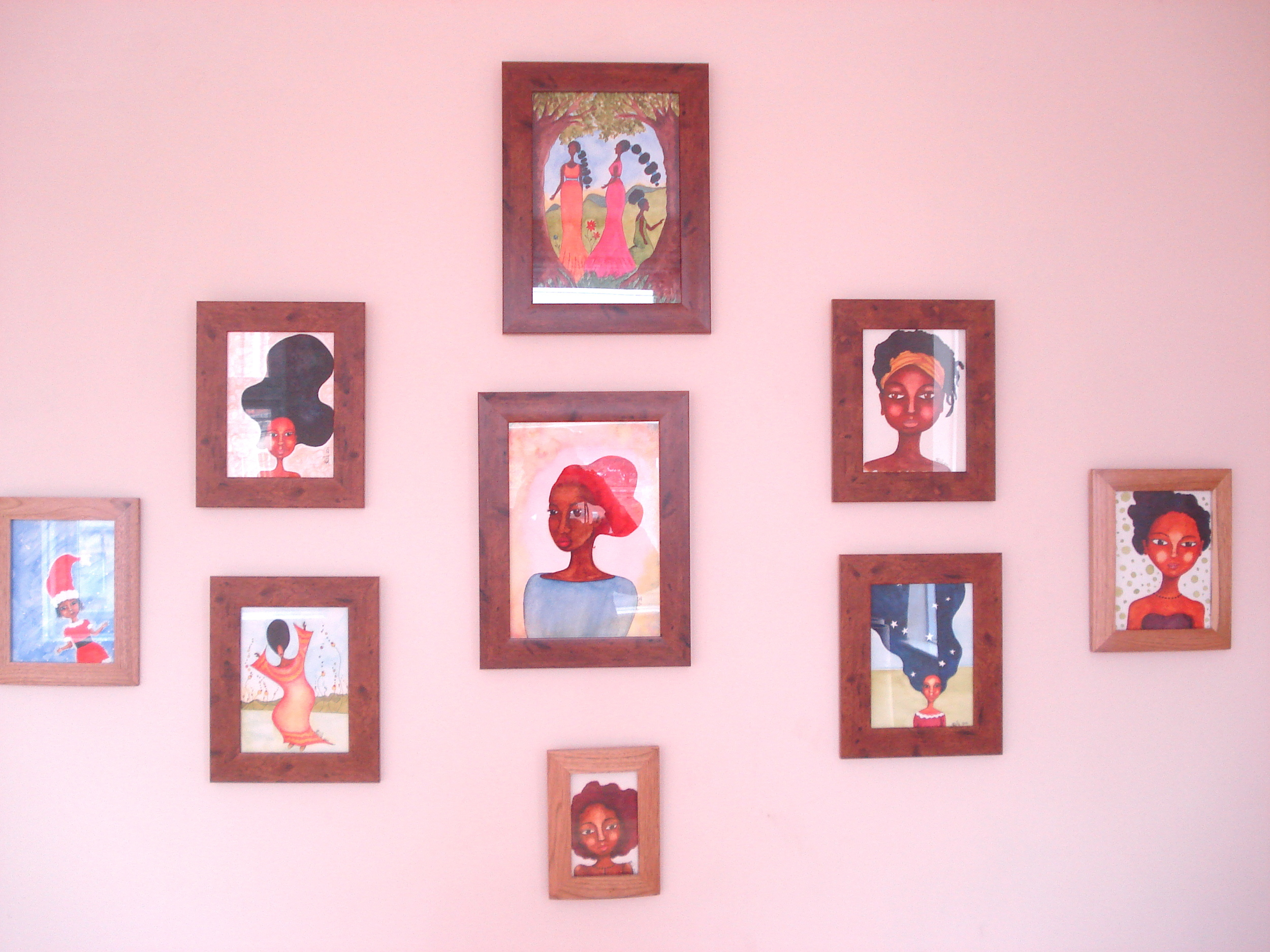 Close up of art display at Embe Restaurant