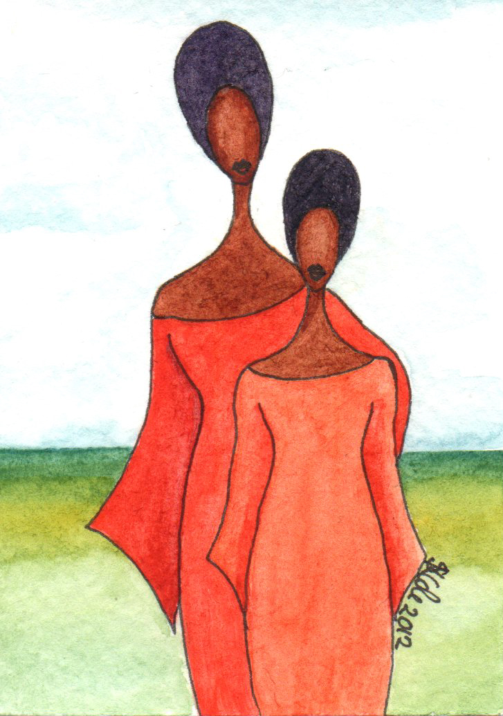 'Mothers Pride' Original Watercolour ACEO © Stacey-Ann Cole 2012