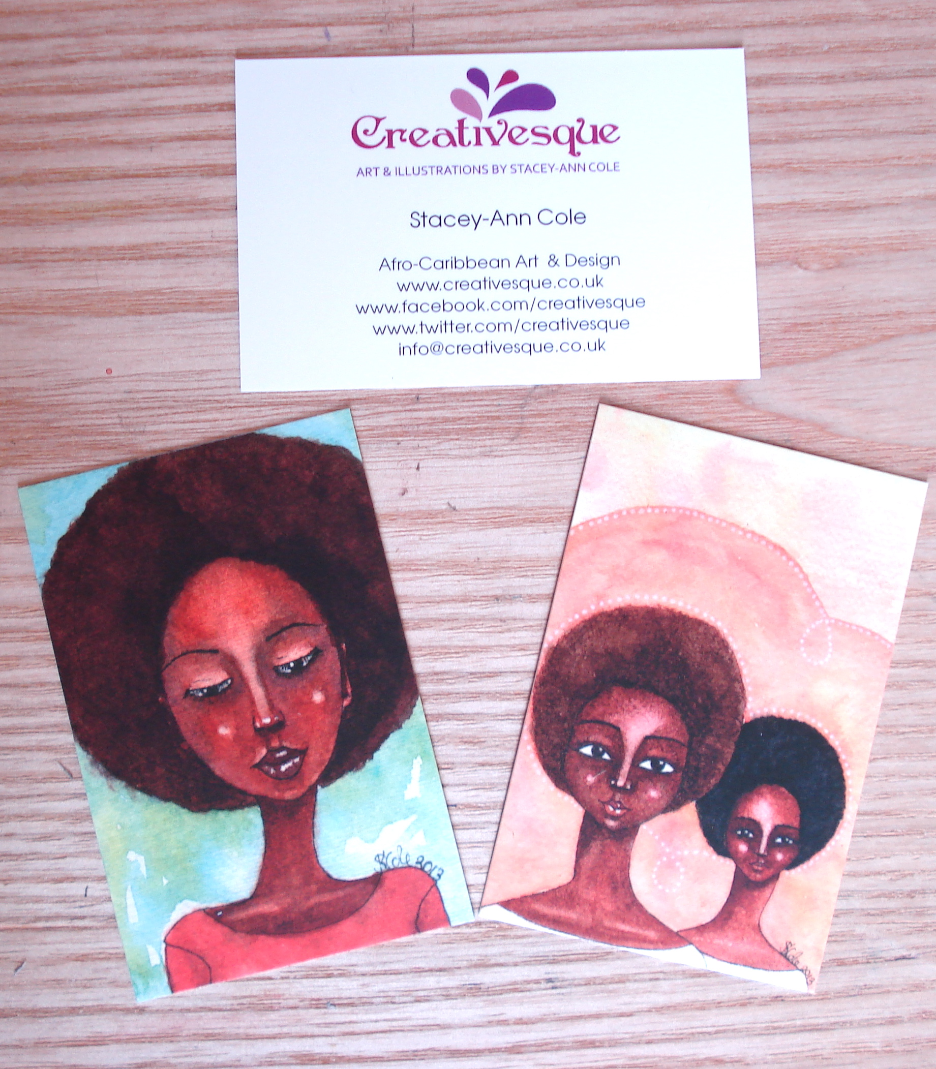 New Business Cards © Stacey-Ann Cole 2013