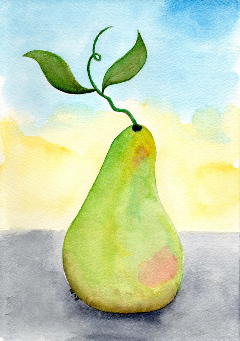 Watercolour Pear