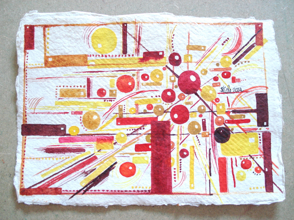 "'Directions' Original Watercolour Painting on Khadi Paper 6"" x 4"" © Stacey-Ann Cole 2014"