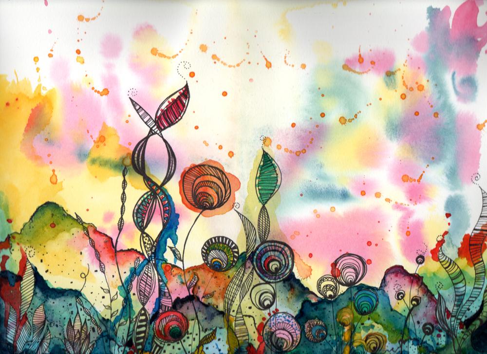 SubAquatic Original Watercolour Painting