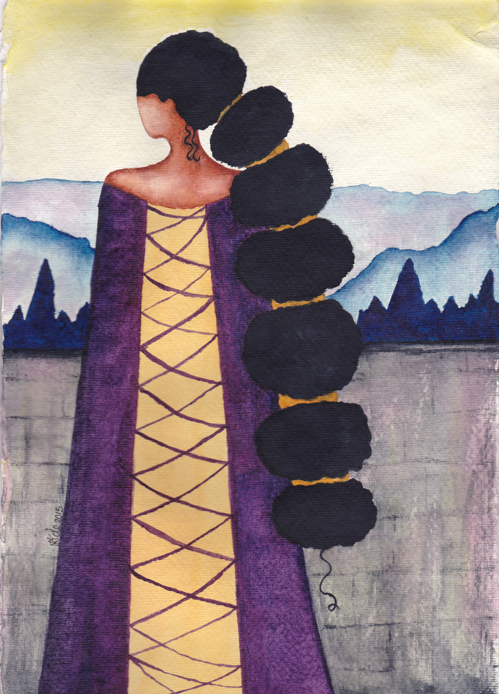 'Queen' Black / African American Watercolour Art