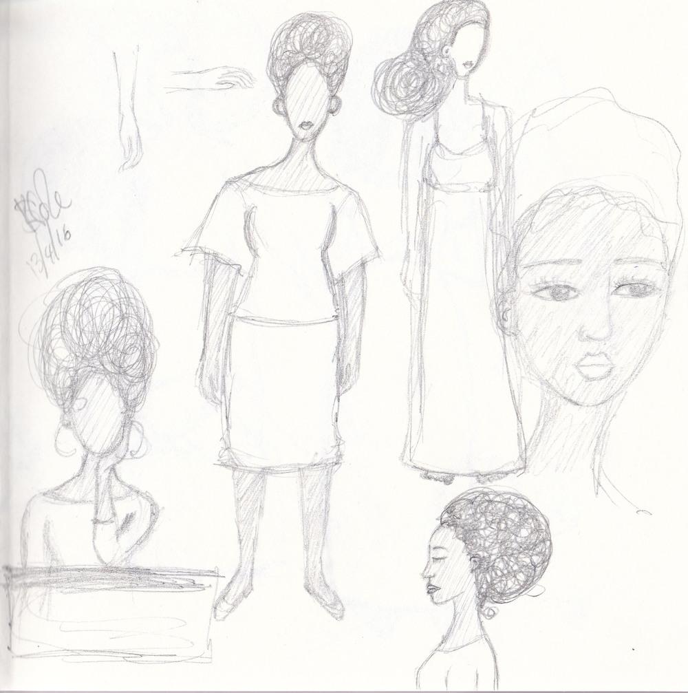 Artist Sketchbook Page April 2016