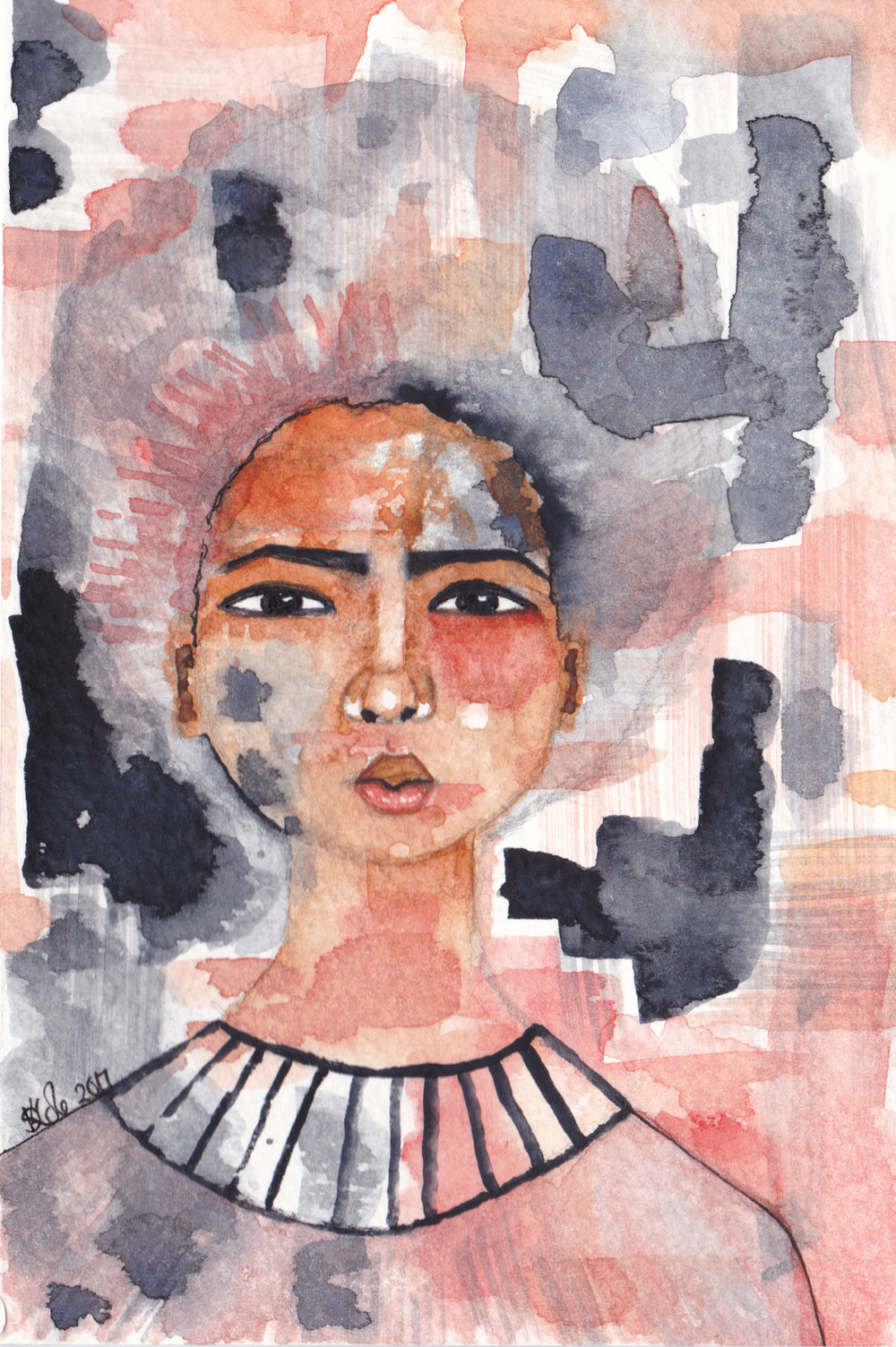 'Awakening to Truth' Original Watercolour Painting by Stacey-Ann Cole