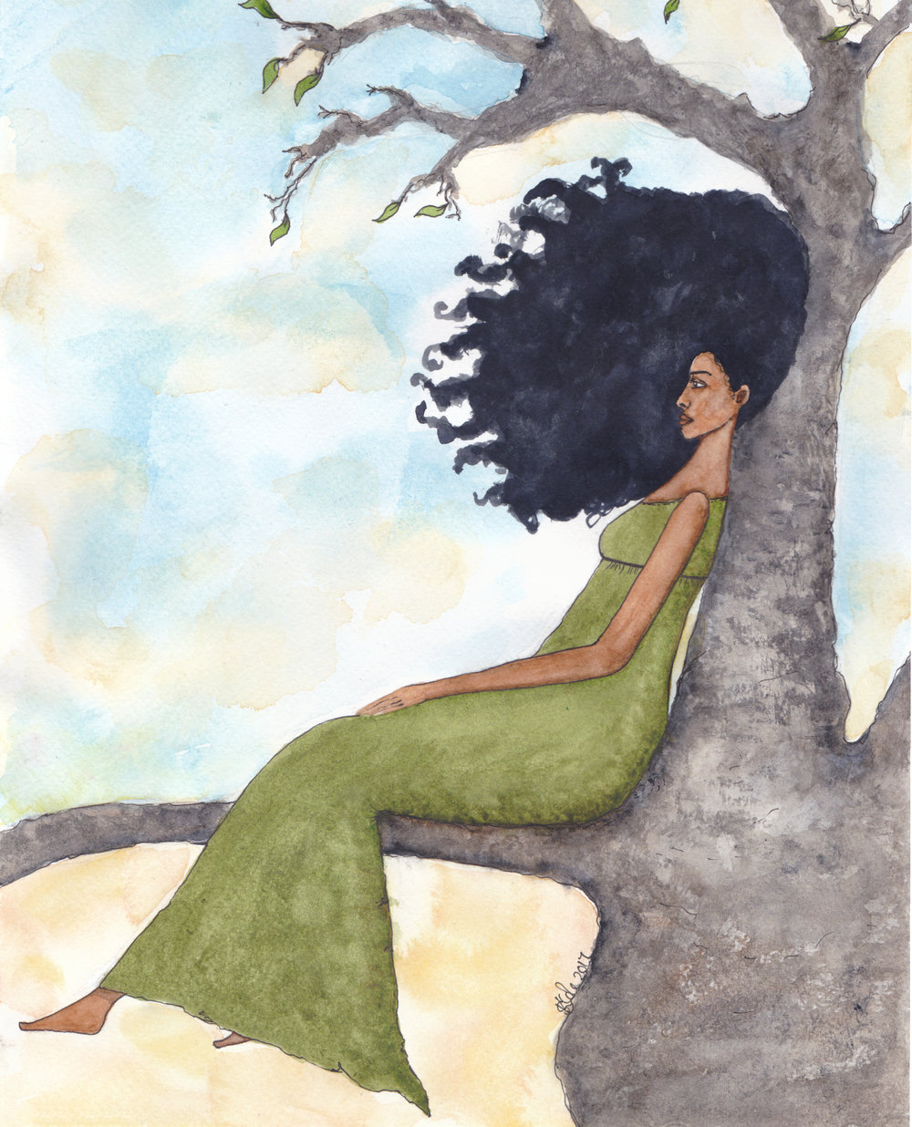 'Presence' Original Watercolour Painting by Stacey-Ann Cole