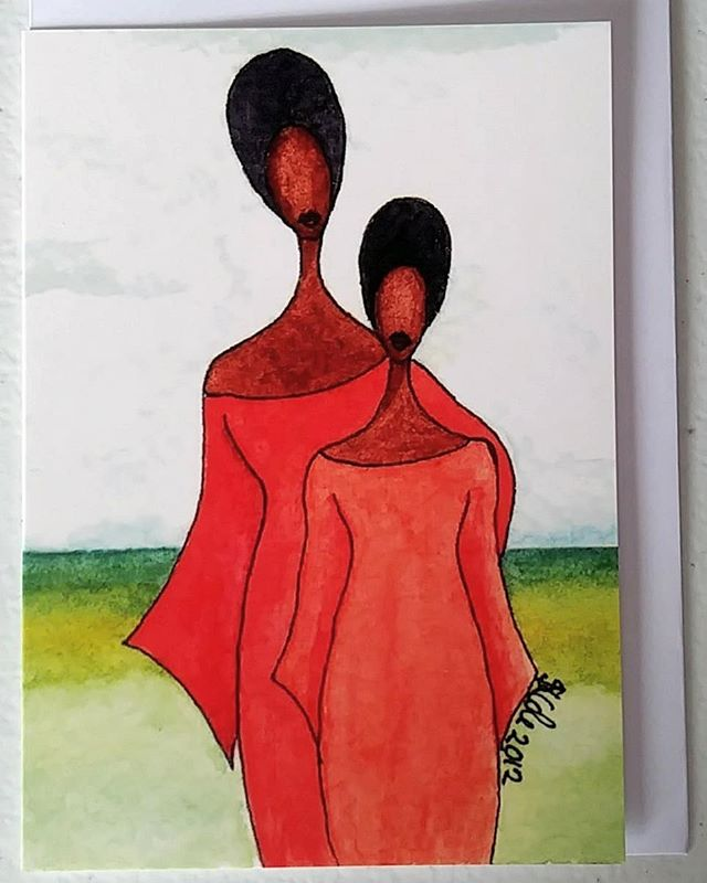 Mother's Day is coming up soon on Monday 11th March here in the UK and I think this card would delight any Mum and not just on Mother's Day either 😊 Available from my Etsy and Art In The Heart online shops  #art #greetingcard #cards #mothersday #UKMothersDay #mum #mother #love #daughter #loveyoumum #motherdaughter #afro #africanamerican #africanamericanart #afroart #representationmatters #women