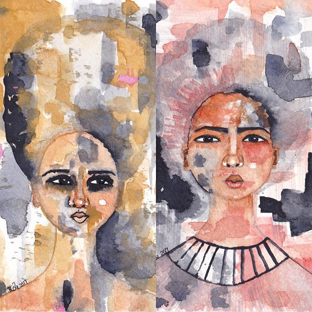 These two paintings plus a number of others have been uploaded to my Facebook page where I am asking which ones you would like to see as new greeting cards.  If you would like to share your favourites with me then please visit the link in my bio to go to my FB page and state the names of your favourites there. Or here if you prefer 😊Thank you!  #blackcards #greetingcards #artcards #cards #newcardsfor2018 #art #illustration #afro #afrocentric #afrohair #afroart #multicultural #diversity #blackgirlmagic #blackart #naturalhair #naturalhairart #africanamerican #africanamericanart