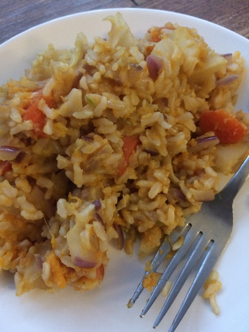 Brown Rice and Veggie Breakfast