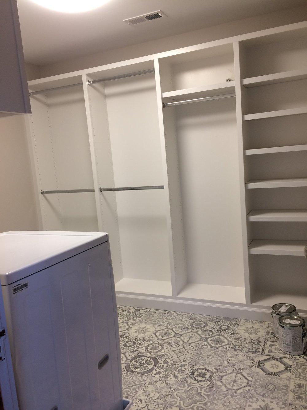 new laundry/closet