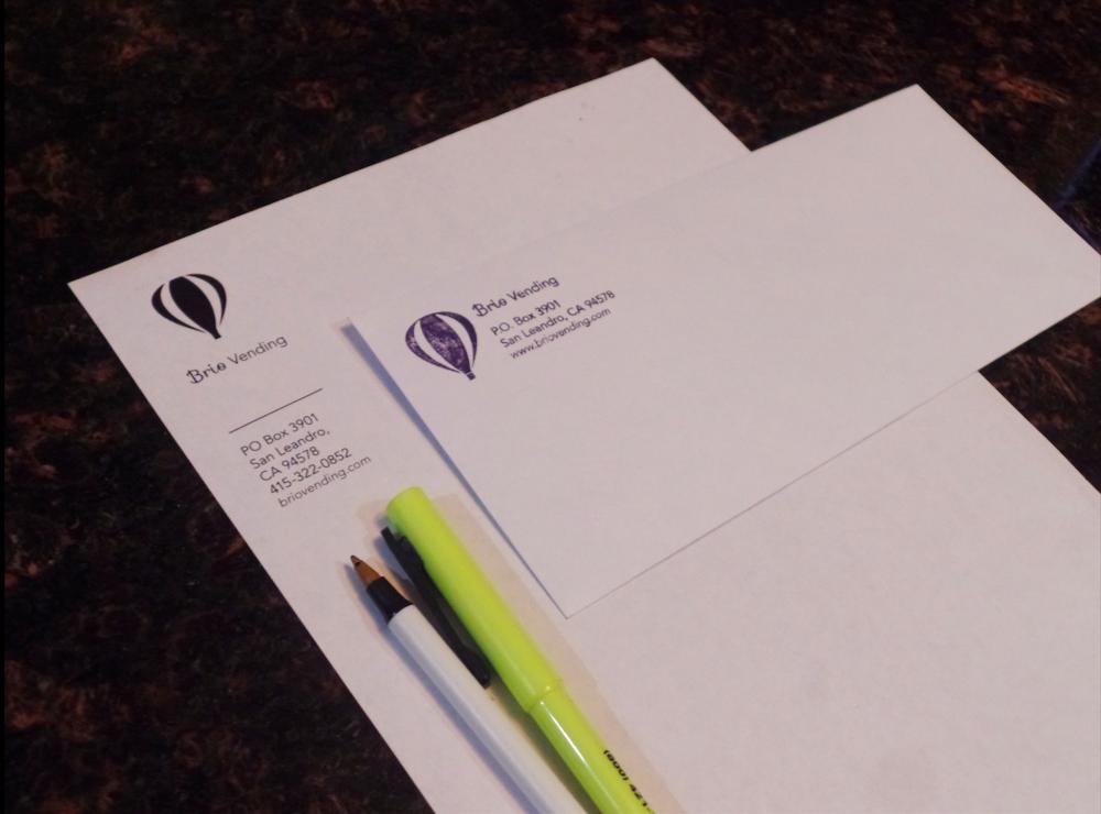 Minimalistic letterhead & envelope