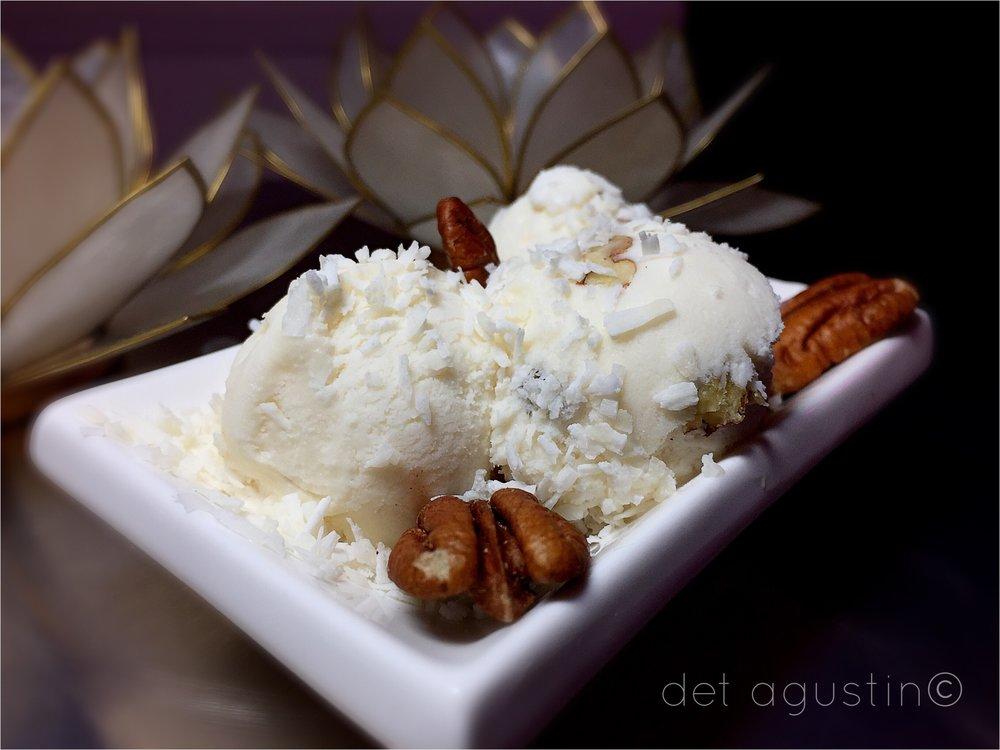 Dairy-free Vanilla Pecan Ice Cream