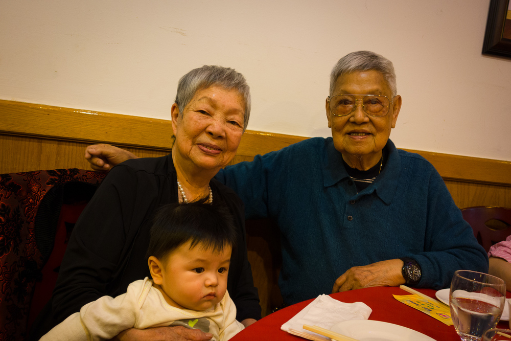 One of the last times that grandpa was able to eat at a restaurant with his entire  family.