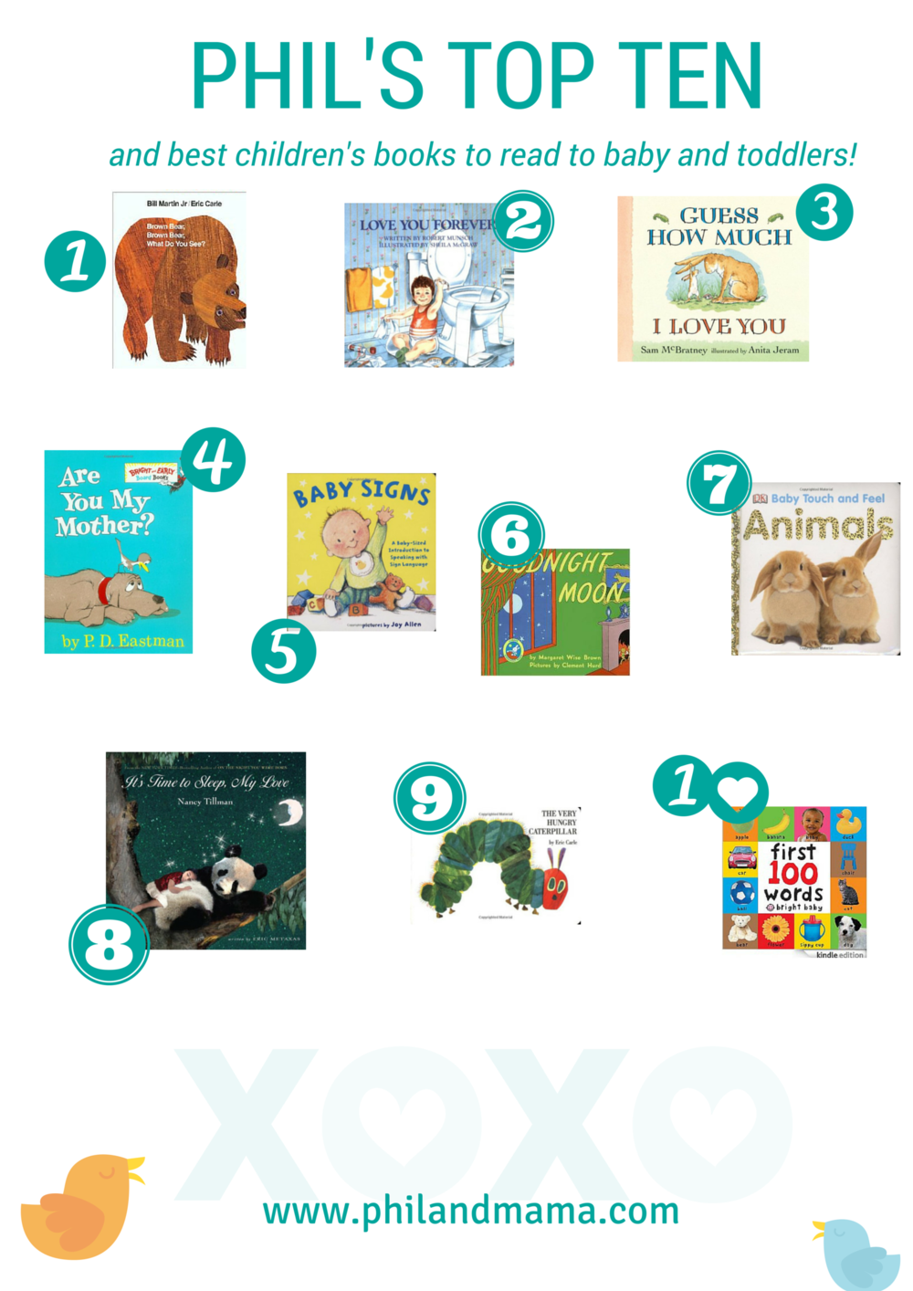 Phil's Top Ten Baby and Children's Books for bedtime or anytime reading