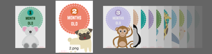Super Cute and Super Free printable Baby Monthly Milestone Signs, one for every month!