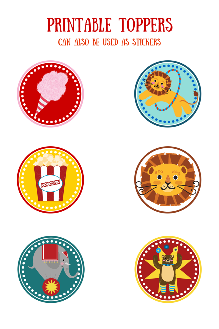 Baby 39 s first year free printable circus themed baby for Circus printables
