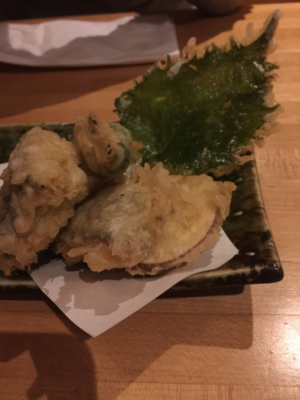 Vegetable Tempura at Ganso Yaki: Tempura Kale!!!