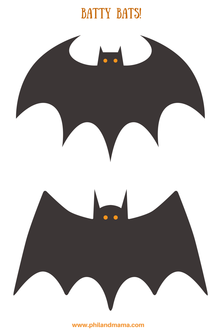 Printable halloween bats - Definitely Glue These Bats To Cardboard Cut Them Out And Hang Them Around Your Home Free Bat Printables