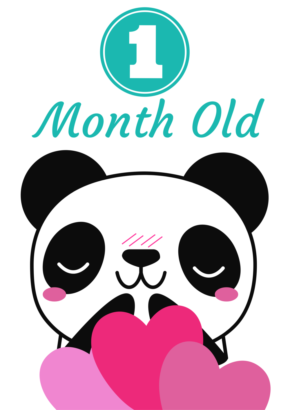 Panda Invasion! Free Printable Baby Monthly Milestone Signs for baby ...