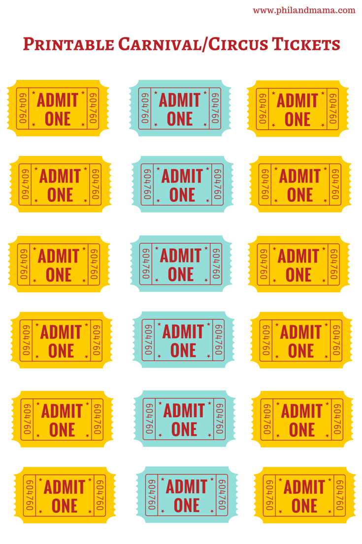 Doc500386 Free Printable Tickets Free Printable Admit One – Printable Tickets Free