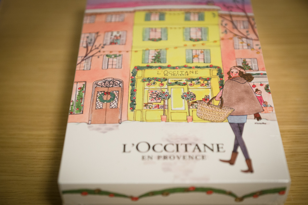 2015 L'Occitane Advent Calendar, picture taken with a SONY Alpha 99