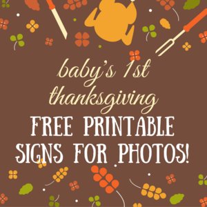 Free printable babys first thanksgiving milestone sign for photos free printable babys first thanksgiving milestone sign for photos and pictures happy thanksgiving m4hsunfo