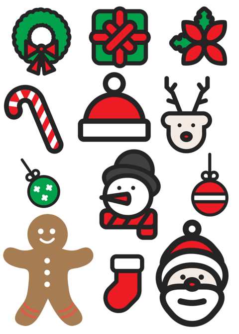 Genius image in christmas printable decorations