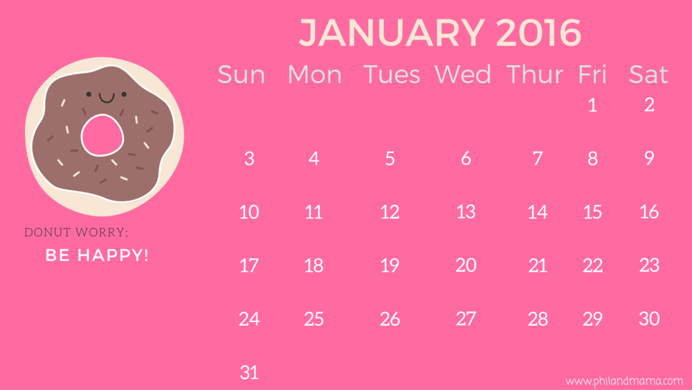 lots of free printable calendars for 2016 with inspirational quotes