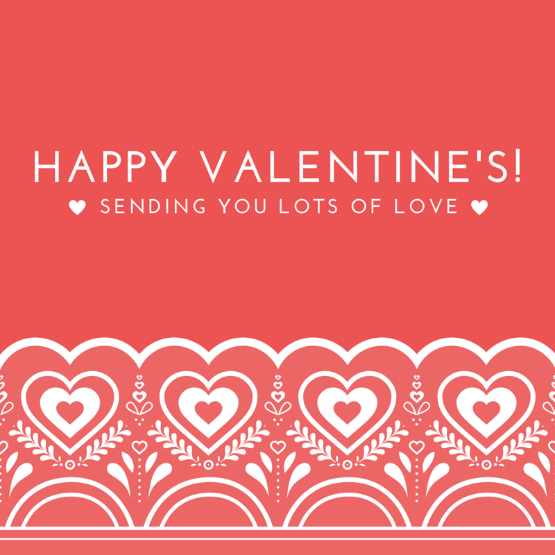 Sending you lots of Love on Valentine's day Free social Media image, just right-click and save as to save to your computer