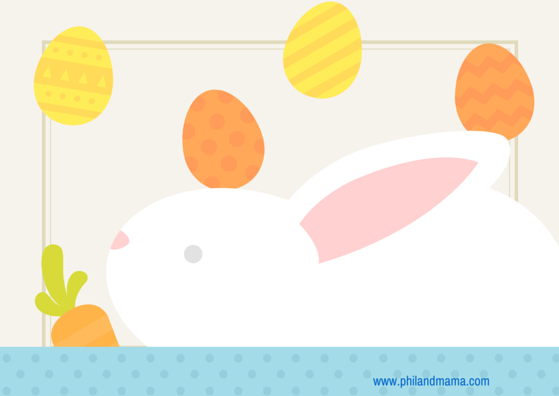 plain easter e-card, you can put your own text in it using Paint or photoshop, or canva.com!
