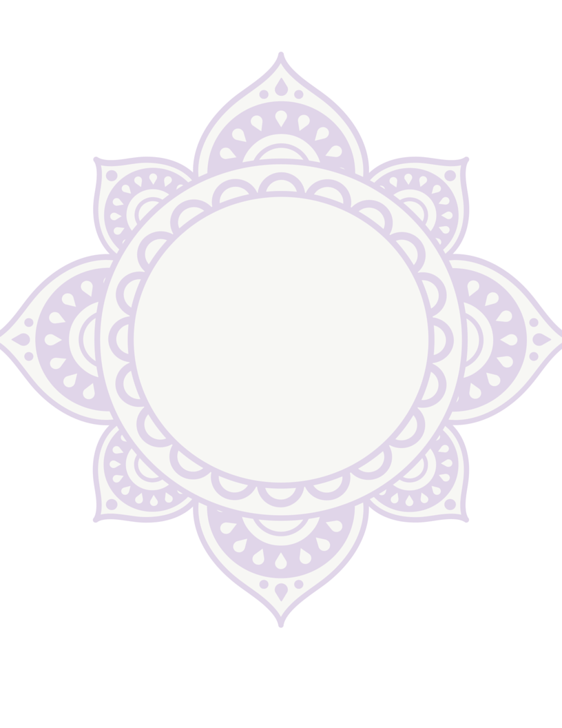ornate mandala free printable stationary template