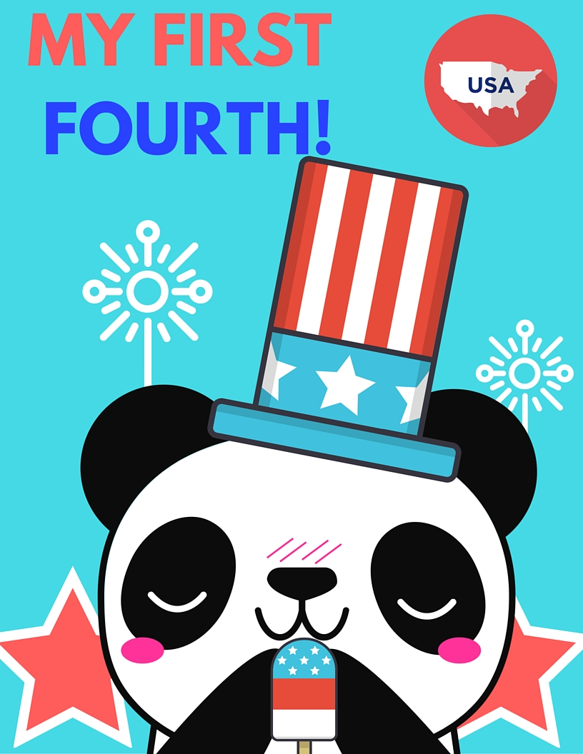 MY FIRST FOURTH (INDEPENDENCE DAY) FREE PRINTABLE MILESTONE CARD. RIGHT-CLICK to Save AS and Image, regular LEFT-CLICK for the PDF
