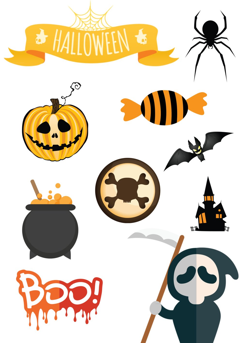 feel free to use this set of halloween stickers. Right-click and save as, then print