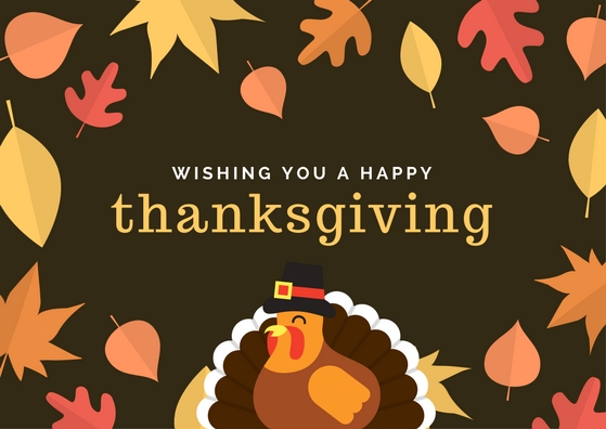 Wishing you a Happy Thanksgiving e-card. Right-click and save as and feel free to use in your emails and social media channels.