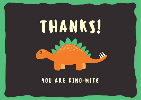 Thanks! You are dino-mite! (pun for you know, that explosive lol)