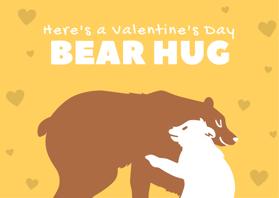 Here's a Valentine's Day Bear Hug