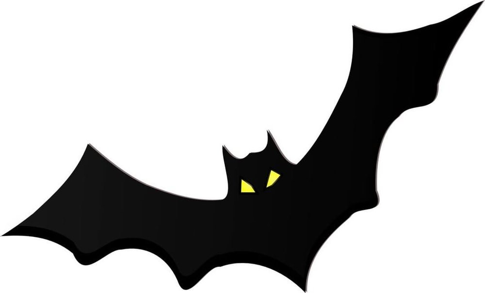 You want to expand this image before you print it out, so the bat is larger, and you won't need to make as many for your decor. You could also make different size bats if you wish, from one clip art.